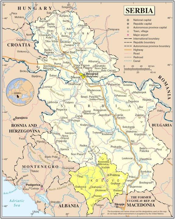 Karta Srbije Manastiri Superjoden